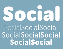 Social® A rounded sans in eight weights.