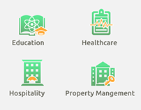 Icons for different industry