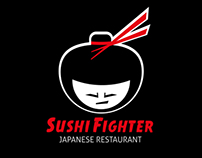 Sushi Fighter - Japanese Restaurant Logo