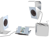APS docking station and speakers
