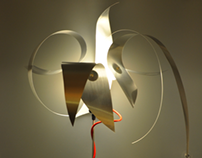 "Light sculpture ""Clipsflower"""
