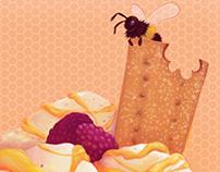 Food Illustration: Honey & Blackberry Ice Cream