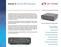 RFC Mantis II Reader Data Sheet (2005)