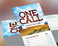One Call Church Connection Card Template