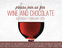 Wine and Chocolate Party Invites