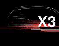 BMW X3 Tshirt Design