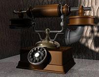 Old Telephone in Maya