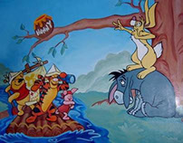 Winnie the Pooh wall painting