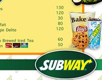 Subway Menu Design Idea