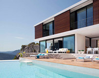 House on the hillside by Miquel Angel Lacomba