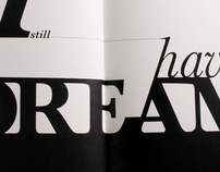 M L King's Speech - Typographic Rendition