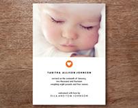 Tabitha Photo Birth Announcement