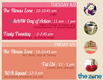 Zone 2012-2013 Web/Email Newsletter Calendar Redesign
