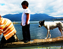 Ecuadorian Family by Volcanic Lake