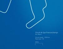 Formula 1 Circuits - Poster Series