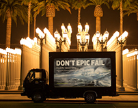 'Don't Epic Fail' Truck- Mobile Advertising
