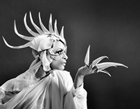 White leather Headdresses