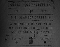 Midnight Brawl graphic for GUESS - FW13/14 Collection