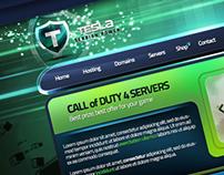 """""""TESLA"""" Gaming Template PSD"""