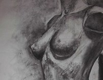 Drawings with charcoal