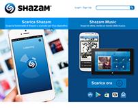 Shazam website redesign concept