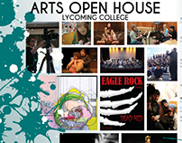 Lycoming College Arts Open House Mailer