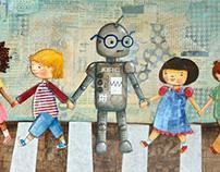 Robot at School