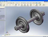 Special wheelset design for narrow gauge - 1067 mm