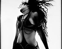 Black trapeze costume