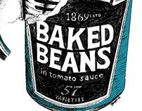 Heinz Beans Pen Drawing