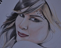 Kat Von D I Colored Pencil Sketch