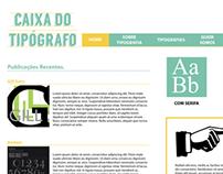Web Site sobre Tipografia