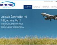 Universal Lojistik Web Tasarım Çalışması