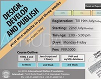 Flyer  for web design course