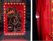 Louboutin Window Display.Execution of Christmas Window