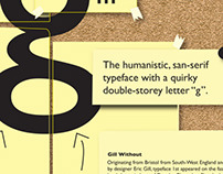 Typography Gill Sans poster