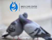 Birds Care Center Logo Template .
