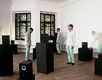 ncca art school/sound art - installation with cubes
