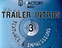 Trailer Intros CD Cover creation process for Q-Factory