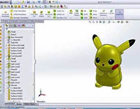 Solidworks 2012 excercise credit model: Picachu