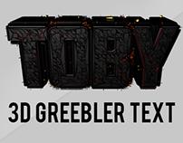 Project 1: C4D/Photoshop 3D Greebler Text