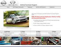 Nissan/Infiniti Vehicle Program Website (IDEA)
