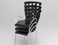 Stackable chair - 3D Advanced Modeling