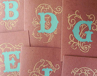 Hand Painted Monogrammed Cards