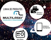 E-mail marketing - Linha de produtos Multilaser