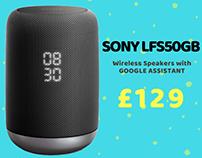 Sony LFS50GB Wireless Smart voice controlled Speaker