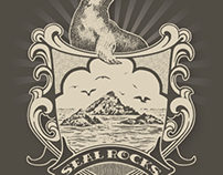 Seal Rocks Illustration
