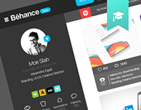 Behance website re-design