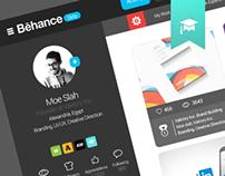 Behance website re-design