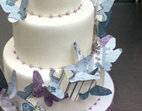 Cascading Butterfly Wedding Cake